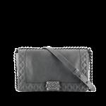 Chanel borsa pelle grigia