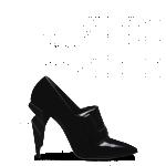 Fendi scarpe donna punta in pelle verniciata tacco elaborato