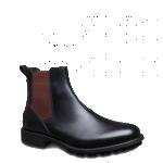 Fendi scarpe uomo stivaletto pelle vitello liscia