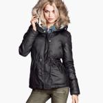 H&M donna giacca imbottita grigio scuro