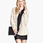 H&M donna giacca pelliccia ecologica bianco