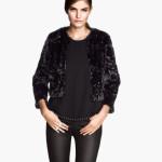 H&M donna giacca pelliccia ecologica nera