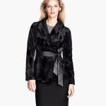 H&M donna giacca pelliccia ecologica sciancrata nera