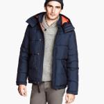 H&M uomo giacca imbottita blu scuro