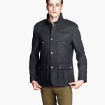 H&M uomo giacca misto lana blu