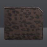 Jimmy Choo accessori portafogli uomo albany leopard