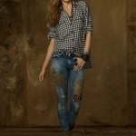 Ralph Lauren abbigliamento donna jeans collezione autunno inverno 2013-2014 animal-patched