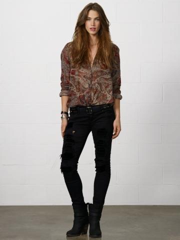 Ralph Lauren abbigliamento donna jeans collezione autunno inverno 2013-2014 eden premium