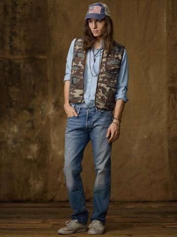 Ralph Lauren abbigliamento uomo jeans collezione autunno inverno 2013-2014 denim straight-fit