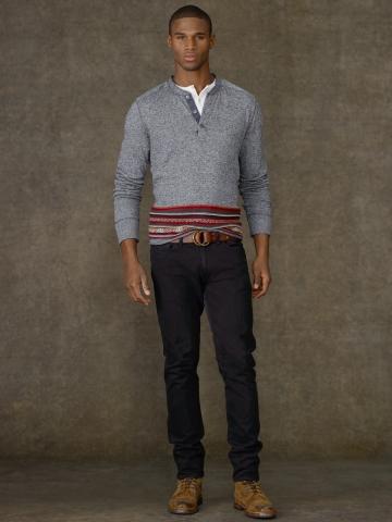 Ralph Lauren abbigliamento uomo jeans collezione autunno inverno 2013-2014 sullivan