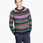 maglie uomo misto lana con lavorazione jacquard fantasia