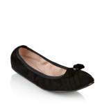 scarpe classiche donna ferragamo ballerina pelle scamosciata