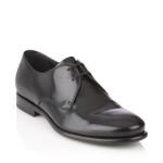 scarpe classiche uomo ferragamo derby nappa con suola in cuoio