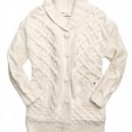 cardigan replay donna bianco lana fatto a mano