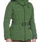 giubbotti blauer donna piumino con cappuccio pelliccia verde