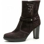 scarpe donna nero giardini tronchetto camoscio alto