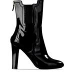 scarpe moschino donna stivaletto pelle nero