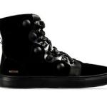 scarpe moschino uomo sneaker alta scamosciata nero