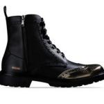scarpe moschino uomo stivaletto nero