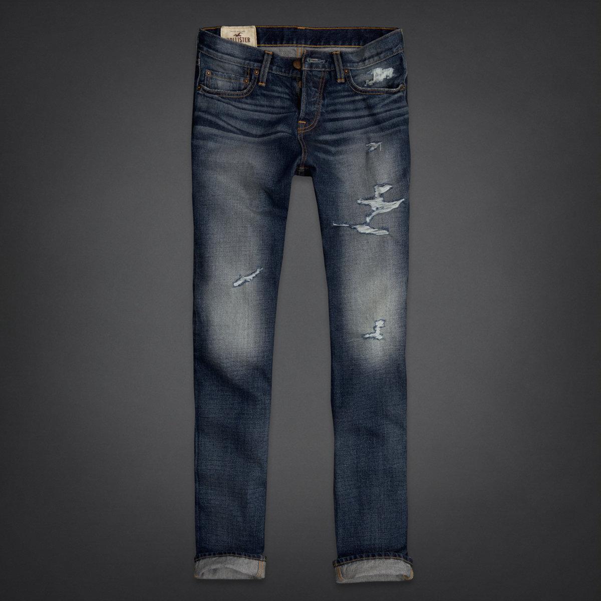 Slim straight jeans hollister