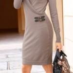 abito donna bonprix maglia marroncino