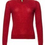 maglia benetton donna girocollo lana shetland