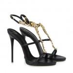 scarpe donna giuseppe zanotti sandali nero invecchiato