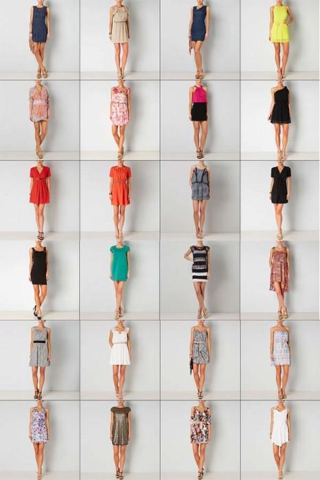 abiti corti donna gaudi'