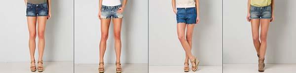 denim shorts donna gaudi'
