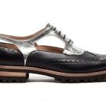 scarpe donna guardiani stringate pelle