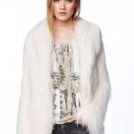 cappotto in pelliccia donna osier pepe jeans