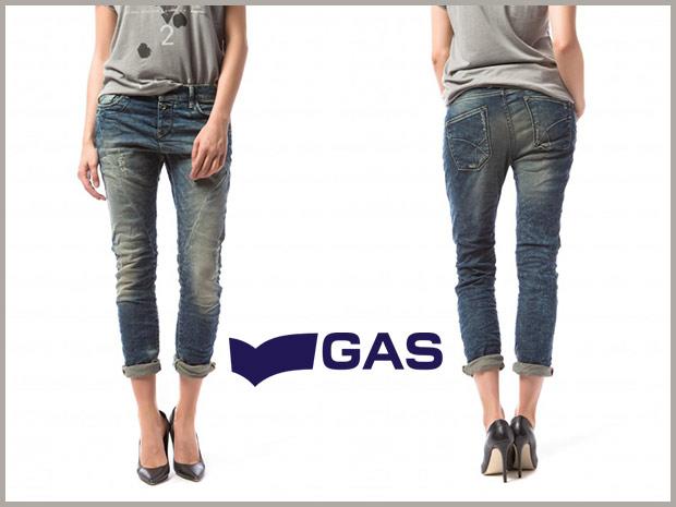 Gas abbigliamento jeans boy friend jade medio chiaro donna