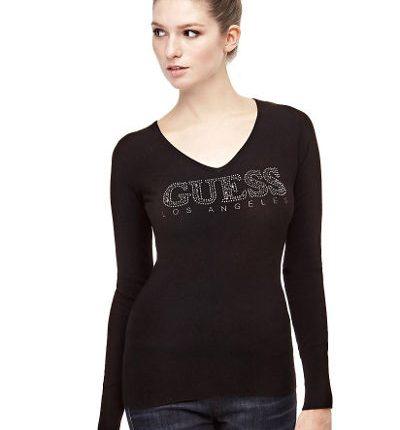 maglione logo strass
