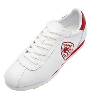 sneaker in pelle stile bowling