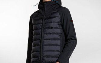 Double fabric bomber jacket