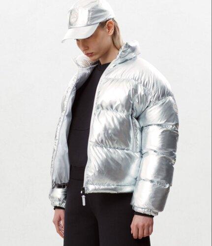 Puffer jacket Art Metallic